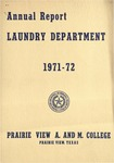 Annual Report - Laundry Department 1971-72