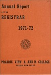 Annual Report - Office of the Registrar 1971-72