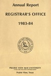 Annual Report - Office of the Registrar 1983-84