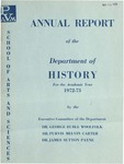 Annual Report - Department of History 1972-73