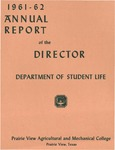 Annual Report - Director of the Department of Student Life 1961-62