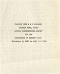 Annual Report - Institutional Report for the Department of Student Life 1960-61 by Prairie State College