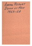 Annual Report - Institutional Report for the Department of Men 1963-64
