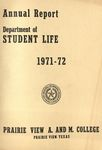 Annual Report - Director of the Department of Student Life 1971-72