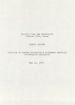 Annual Report - Division of Career Education & Placement Services May 31, 1975