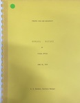 Annual Report of Fiscal Office - June 26, 1975 by Prairie View A&M University