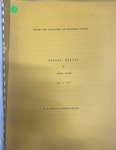 Annual Report of Fiscal Office - May 23, 1972 by Prairie View A&M College