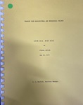 Annual Report of Fiscal Office - May 25, 1973 by Prairie View A&M College