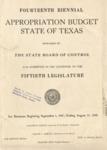 Fourteenth Biennial Appropriation Budget - 50th Legislature 1947-1949 by State of Texas