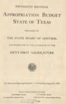 Fifteenth Biennial Appropriation Budget - 51st Legislature 1949-1951 by State of Texas