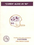 Football Media Guide - 1985 by Prairie View A&M University