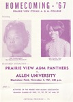 Nov 4, 1967- Prairie View A&M Panthers vs Allen University