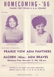 Nov 12, 1966- Prairie View A&M Panthers vs Alcorn (Miss.) A&M Braves