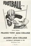 Nov 14,1970 - Prairie View A&M College vs Alcorn A & M College