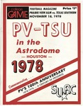 Nov 18, 1978- Prairie View A&M vs Texas Southern