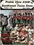 Oct 7, 1978- Prairie View A&M vs Southwest Texas State