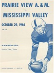 Oct 9, 1966- Prairie View A&M vs Mississippi Valley
