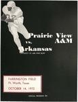 Oct 14, 1972- Prairie View A&M vs University of Arkansas