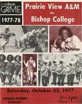 Oct 22, 1977- Prairie View A&M vs Bishop College