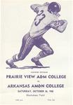 Oct 26, 1968- Prairie View A&M vs University of Arkansas