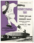 Oct 31, 1981- Prairie View A&M vs Mississippi Valley