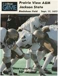 Sep 17, 1977- Prairie View A&M vs Jackson State