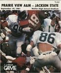 Sep 19, 1981- Prairie View A&M vs Jackson State