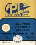 Sep 26,1981- Prairie View A&M vs Southern University