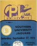 Sep 27, 1975, Prairie View A&M vs Southern University Jaguars