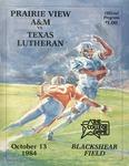 Oct 13, 1984 - Prairie View A&M vs Texas Lutheran