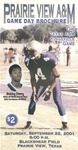 Sept 22, 2001 - Prairie View A&M vs Texas A&M Kingsville by Prairie View A&M University