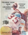 Sept 29, 1984 - Prairie View A&M vs Grambling State