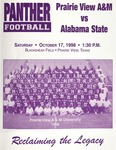 Oct 17, 1998- Prairie View A&M vs Alabama State by Prairie View A&M University