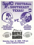 Sep 19,1998- Prairie View A&M vs Southern University Jaguars by Prairie View A&M University