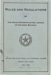 Rules and Regulation of Texas Interscholastic League Of Colored Schools - 1941-1942 by Prairie View State Normal And Industrial College