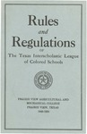 Rules and Regulation of Texas Interscholastic League Of Colored Schools - 1949-1950 by Prairie View Agricultural And Mechanical College