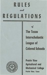Rules and Regulation of Texas Interscholastic League Of Colored Schools - 1955 by Prairie View Agricultural And Mechanical College