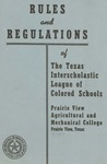 Rules and Regulation of Texas Interscholastic League Of Colored Schools - 1959 by Prairie View Agricultural And Mechanical College