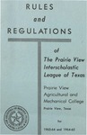 Rules and Regulation of Texas Interscholastic League Of Colored Schools - 1963-1965 by Prairie View Agricultural And Mechanical College