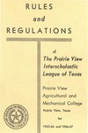 Rules and Regulation of Texas Interscholastic League Of Colored Schools - 1965-1967