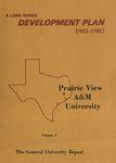 Development Plan - General University Report 1981-87 by Prairie View A&M University