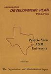 Development Plan - Organization and Administration Report 1981-87