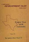 Development Plan - Student Affairs Report II 1981-87