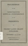 President 19th Annual Conference - Nov 1941 by Prairie View State College