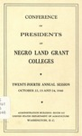 President 24th Annual Conference - Oct 1946 by Prairie View State College