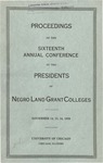 President 16th Annual Conference - Nov 1938 by Prairie View State College