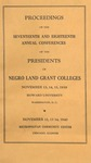 President 17th and 18th Annual Conference - Nov 1939 by Prairie View State College