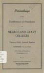 President 26th Annual Conference - Oct 1948 by Prairie View State College