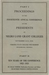 President 14th Annual Conference - Oct 1936 by Prairie View State College