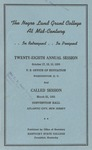 President 28th Annual Conference - Oct 1950 by Prairie View A&M College